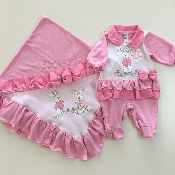 Kit Saida Maternidade Menina Personalizada