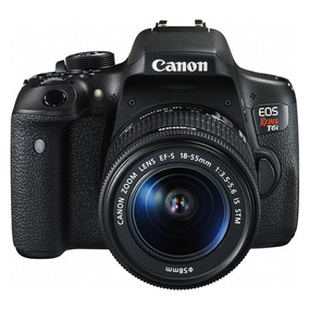 Câmera Digital Dslr Canon Eos Rebel T6i 24.2 Mp Lcd 3.0