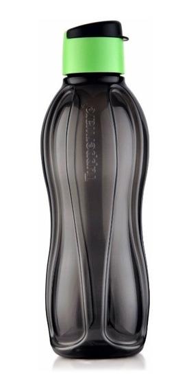Botella Tupperware 1lt Con Practitapa Negroyverde