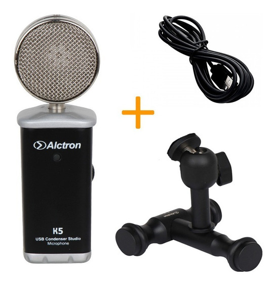 Alctron K5 Micrófono Condensador Usb Podcast Video Cuotas