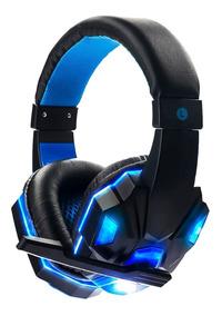 Headset Gamer Fone Ouvido Ps3 Ps4 Pc Led Exbom Celular Cs Go