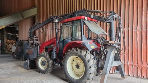 Tractor Aolong Con Grua Forestal