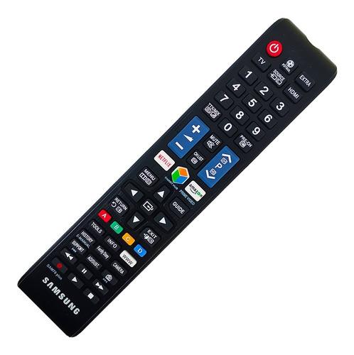 Imagen 1 de 10 de Control Remoto Samsung Smart Tv Grande + Funda Y Pila Gratis