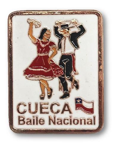 Imagen 1 de 1 de Magnético Cueca Baile Nacional Chile Cobrizado