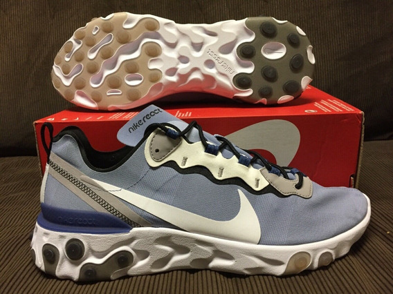 Zapatillas Nike React Element 55 Indigo Fog(airmax Vapormax)