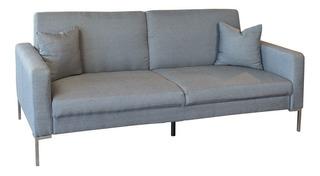 Sofa Cama Matrimonial Actual Studio Tela Gris 3 Posiciones