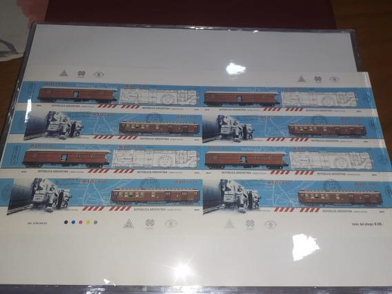 Plancha Vagones Postales..!! Mint - 40dol.cat. Única..!!!!