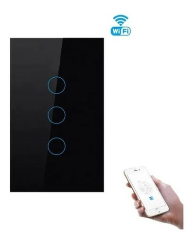 Interruptor Inteligente Tactil Wifi Domotica (3 Botones)