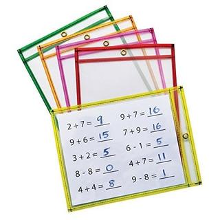 Mind Sparks Dry Erase Pockets (10 Piezas), Neon, 9 X 12