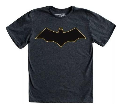 Playera Mascara De Latex Batman Rebirth Logo Mldc Niño