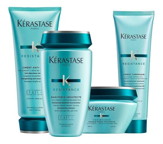 Kit Kérastase Résistance: Shampoo + Acond + Máscara + Crema