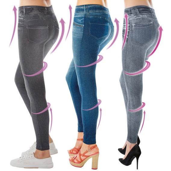 Pantalones Leggins Lejeans Moldea Estilo Jeans Licra