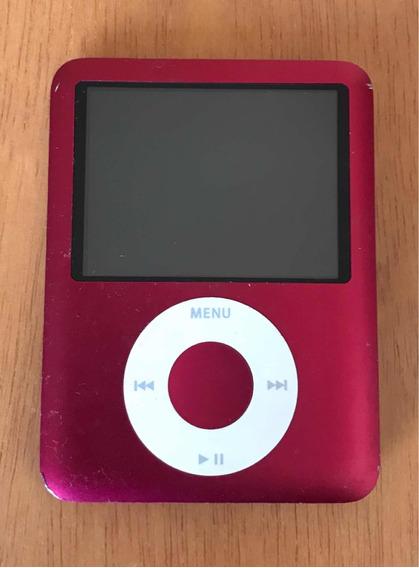iPod Nano Vermelho - 8gb - Geração 3 -com Capinha+carregador