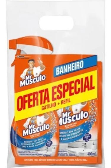 Desinfetante Banheiro Mr Músculo Borrifador + Refil