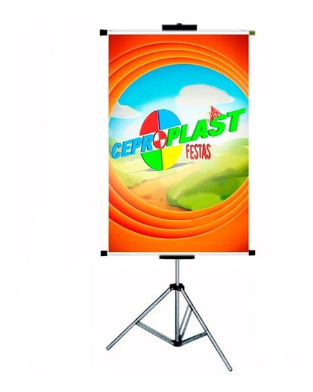 07 Porta Banner C/ Garras 2,20mt Tripé Ceproplast Barato