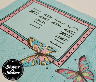 Libro De Firmas Impreso Con Fotos Y Diseño Book