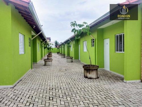 Casa Com 2 Dormitórios À Venda Por R$ 180.000 - Estância Balneária De Itanhaém - Itanhaém/sp - Ca1183