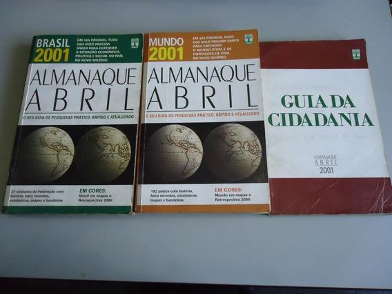 Livro Almanaque Abril Mundo, Brasil E Guia Da Cidadania 2001