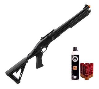 Airsoft Shotgun Gás Secutor Velites G-iii Full Metal - 6mm +
