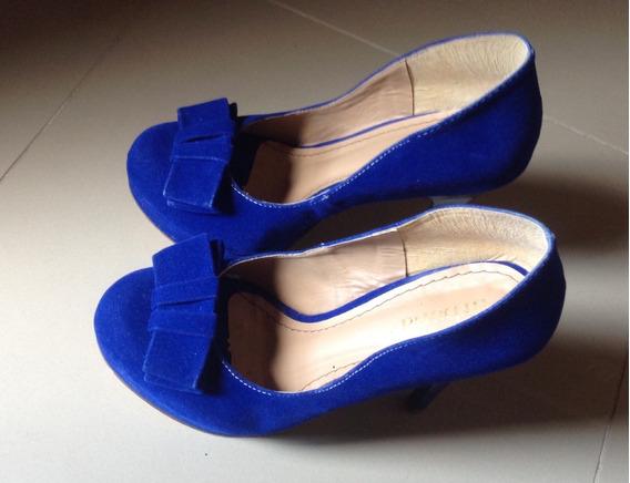 Sapato De Salto Azul