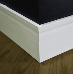 40m Rodapé Branco 20cm Mdf Ultra Naval Resistente A Umidade