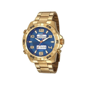 Relógio Speedo Masculino Dourado Anadigi 15002gpevds1