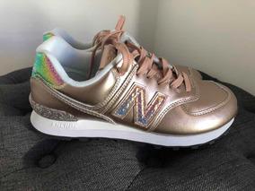 Tênis New Balance Wl574 Nrg Rose Gold