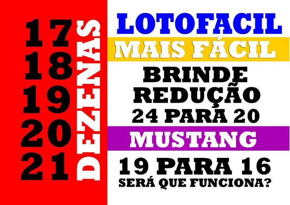 Lotofacil 17 18 19 20 21 Mais Facil
