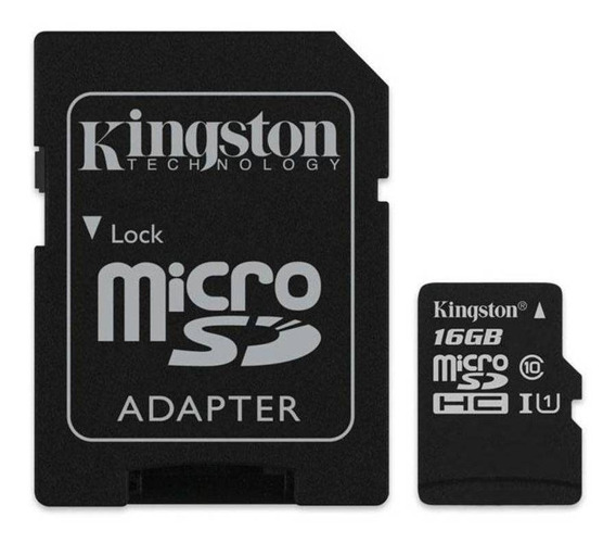 Cartao De Memoria 16gb Microsd Kingston Classe 10 Sdcs/16gb
