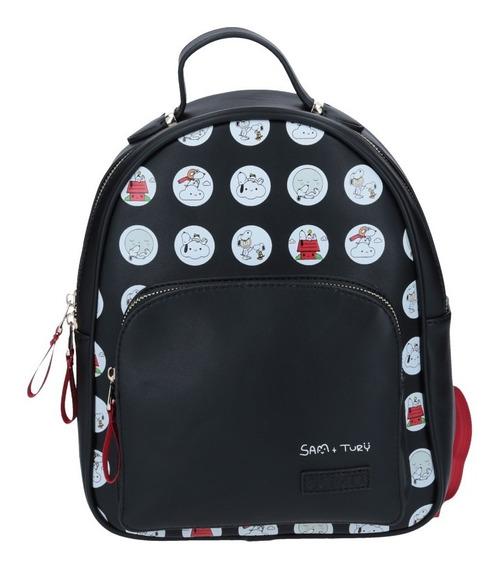 Mini Backpack De Dama Snoopy Peanuts Gorett Turi
