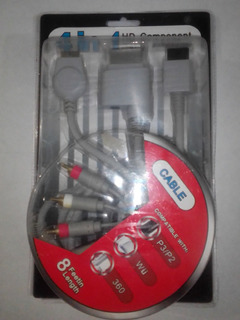 Cable Hd Audio Video Para: Ps2, Ps3, Xbox 360 Y Wii.