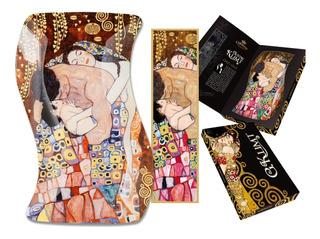 Plato En Cristal Rectangular 15 X23 Cm La Familia Klimt