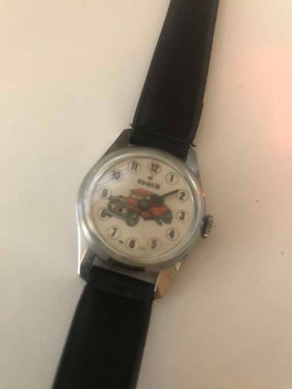 Relógio Vogue Infantil De Calhambeque Anos 80 De Corda