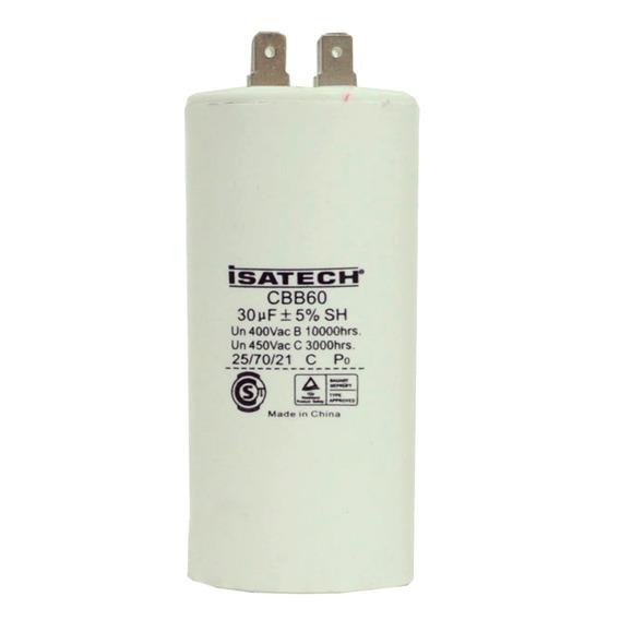 Capacitor De Marcha 30uf 400v 50/60hz Isatech