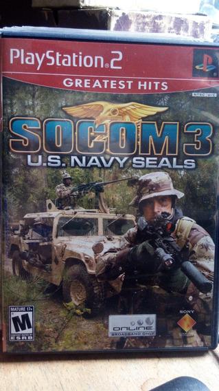 Dvd Jogos Play Station 2 Greatest Hits Socom 3 U.s Original