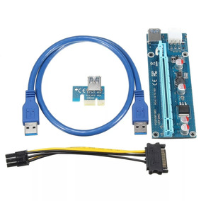 Kit 27x Cabo Riser Card 006c 4 Capacitores Usb 3.0 60cm