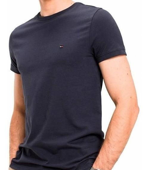 Camiseta Basica Masculina 100% Algodao Malha Peruana