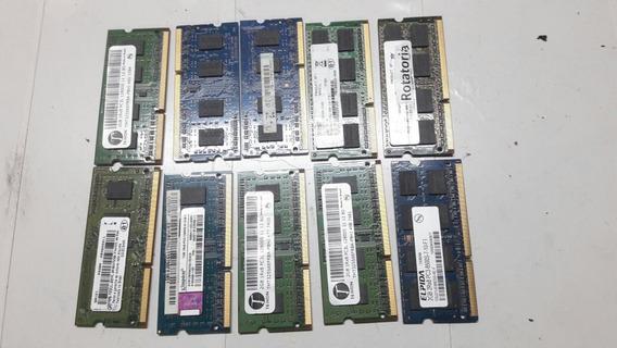 Memoria Ddr3 2gb 10600s Pc3l Para Notebook $38 Reais Cada 1