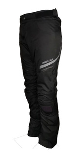 Pantalon Con Proteccion Moto Immortale Scout Negro Hivis