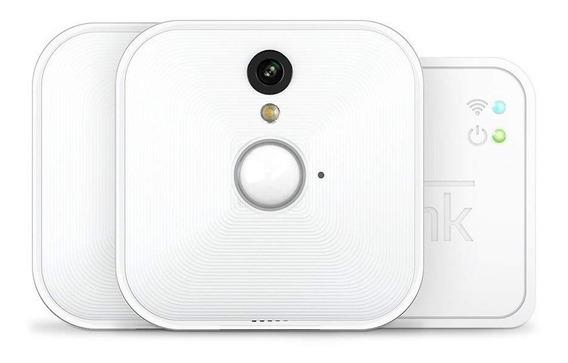 Camera De Monitoriamento Blink Branca Sem Fio Uso Interno