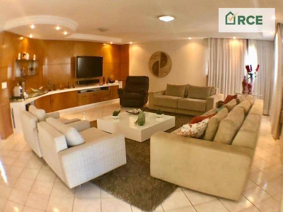 Casa Com 4 Dormitórios À Venda, 466 M² Por R$ 2.490.000,00 - Candelária - Natal/rn - Ca0152