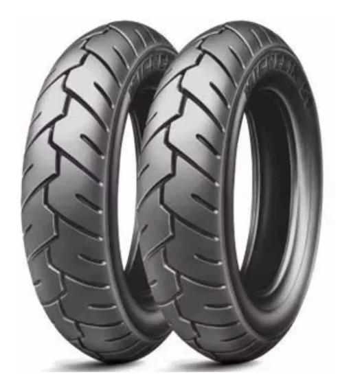 Par Pneu 350-10 Michelin Suzuki Burgman 125 Pronta Entrega