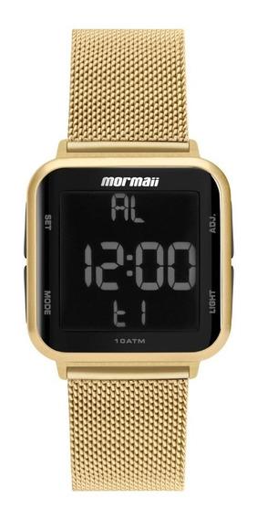 Relógio Mormaii Feminino Digital Mo6600ah/8d Dourado Preto