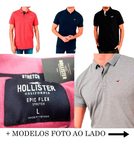 Camisa Polo Stretch Pique Icon Hollister 100% Orig.epic Flex