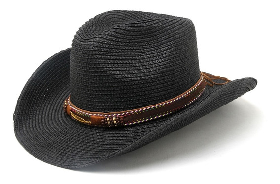 Sombrero Cowboy Australiano Pluma Verano Playa
