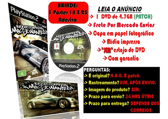Need For Speed Most Wanted Para Ps2 + Brinde Poster Adesivo