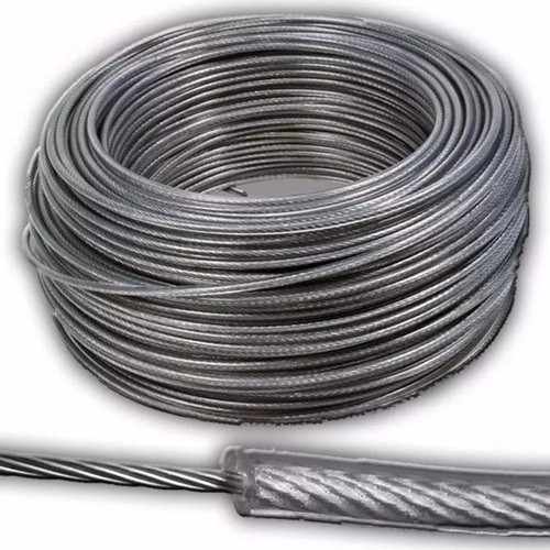 Cable Acero Forrado Pvc Tendedero 4 Mm Rollo X 100 Mts
