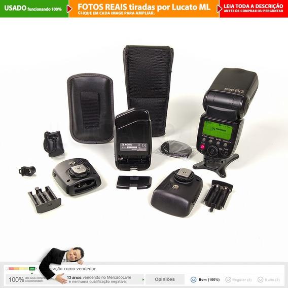 Fotômetro Sekonic L308s + Flash Canon 580exii + Rádio V5 |2b