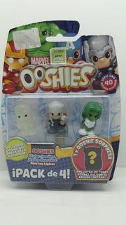 Ooshies: Muñecos De Marvel A Coleccionables. Pack De 4