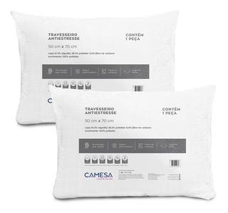 Kit 2 Travesseiros Anti Stress Suporte Firme 50x70cm Camesa